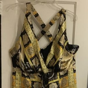 Handkerchief Dress (midi) Cross back